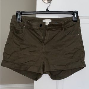 Olive green H & M shorts